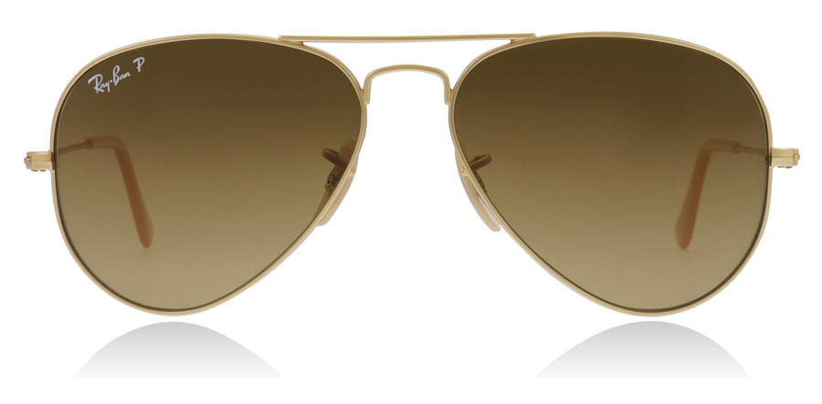 Ray-Ban Aviator RB3025 Matta kulta 112/M2 55mm Polarisoivat