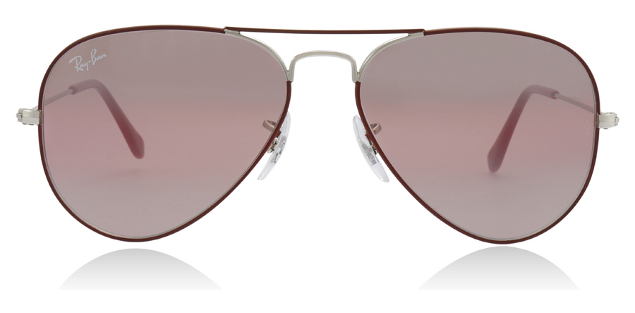 Ray-Ban RB3025 Aviator Silver / Bordeaux 9155AI 55mm