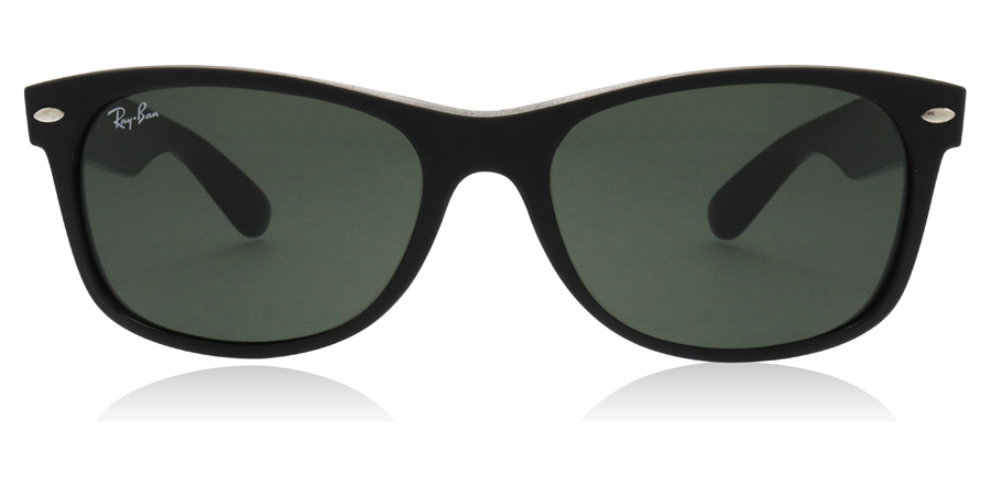 Ray-Ban New Wayfarer RB2132 Rubber / Shiny Black 646231 55mm