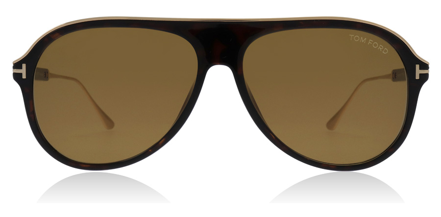 Tom Ford Nicholai FT0624 Tumma havanna-kulta 52E 57mm