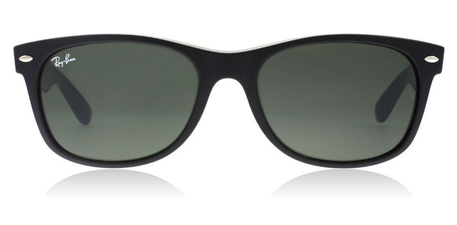 Ray-Ban RB2132 New Wayfarer Matta musta-sininen-purppura 6182 52mm