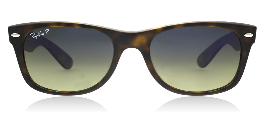 Ray-Ban RB2132 New Wayfarer Matta kilpikonna 894/76 55mm Polarisoivat
