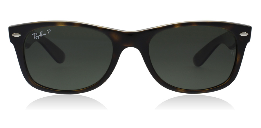 Ray-Ban RB2132 New Wayfarer Kilpikonna 902/58 55mm Polarisoivat