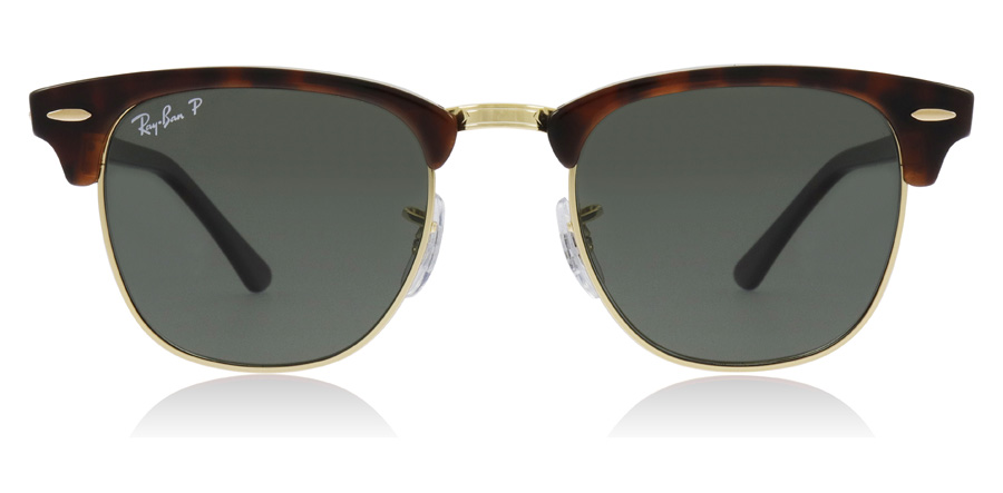 Ray-Ban Clubmaster RB3016 Kilpikonna 990/58 49mm Polarisoivat